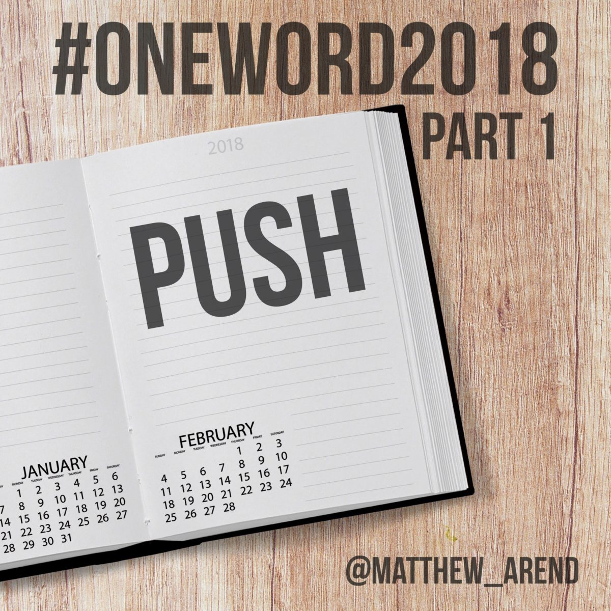 "My #OneWord2018 Needed a ""PUSH"""